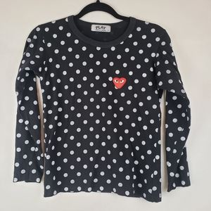 Play Comme Des Garcons Polka dot Long Sleeve Shirt